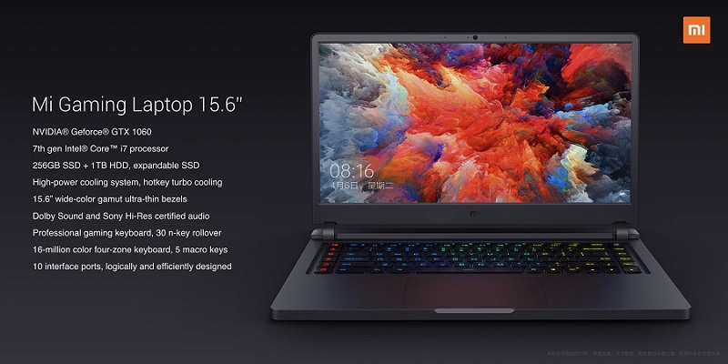 Mi Gaming Laptop Tech Specs - شیائومی از لپتاپ گیمینگ Mi Gaming Laptop رونمایی کرد