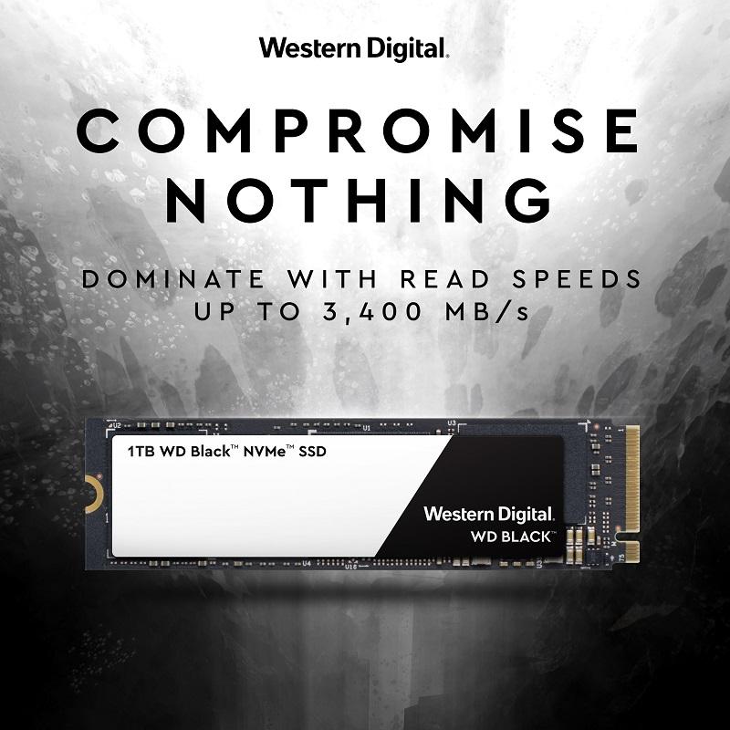 PRN Graphic WDBlackSSDNVME - وسترن دیجیتال، از حافظههای SSD مخصوص بازی با کیفیت 4K رونمایی کرد