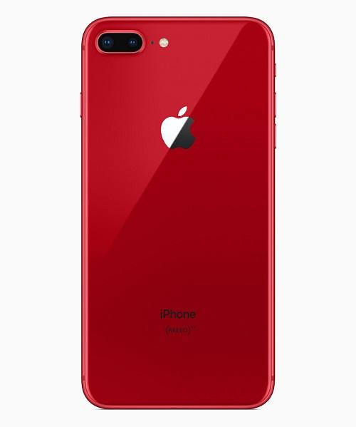 iphone8plus product red back 041018 - اپل نسخه قرمز رنگ آیفون 8 و آیفون 8 پلاس را رونمایی کرد
