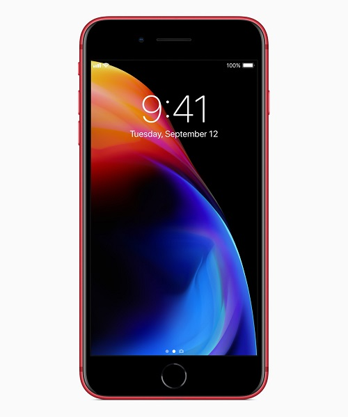 iphone8plus product red front 041018 - اپل نسخه قرمز رنگ آیفون 8 و آیفون 8 پلاس را رونمایی کرد