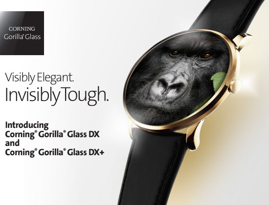 CGG GlassTypes DX - شیشه محافظ گوریلا گلس DX و +DX برای ابزارهای پوشیدنی معرفی شد