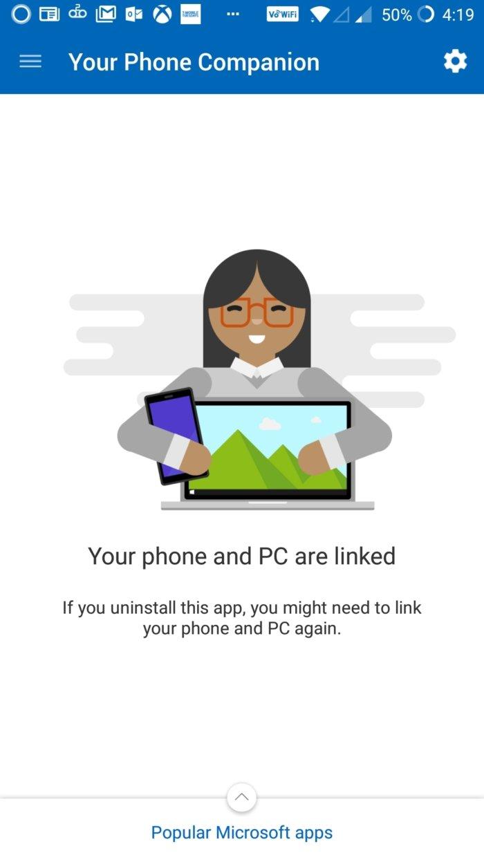 my phone companion 100783742 large - آموزش استفاده از برنامه Your Phone روی ویندوز 10