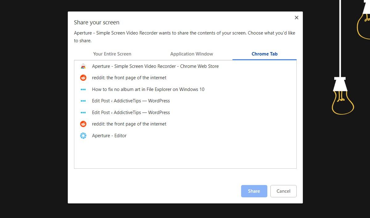 Aperture Simple Screen Video Recorder - روشی برای فیلمبرداری از صفحه نمایش در گوگل کروم