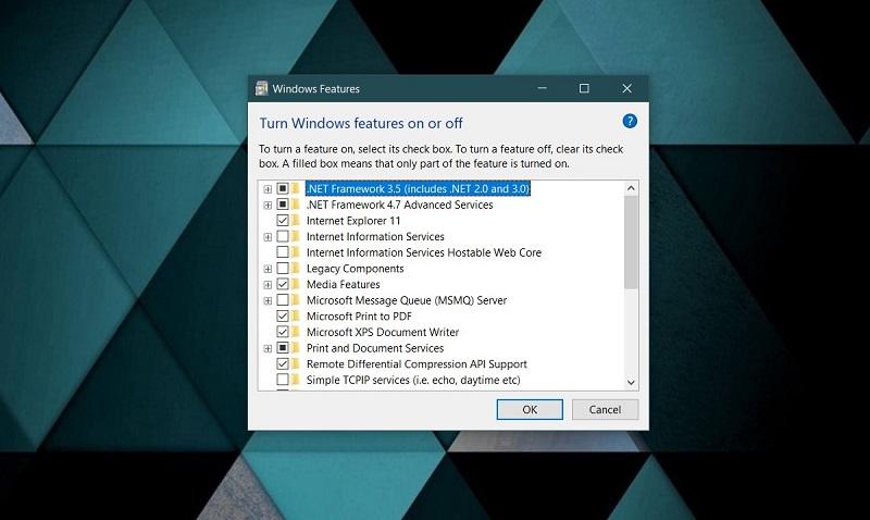 win feature list - آموزش حذف مرورگر اینترنت اکسپلورر از ویندوز 10