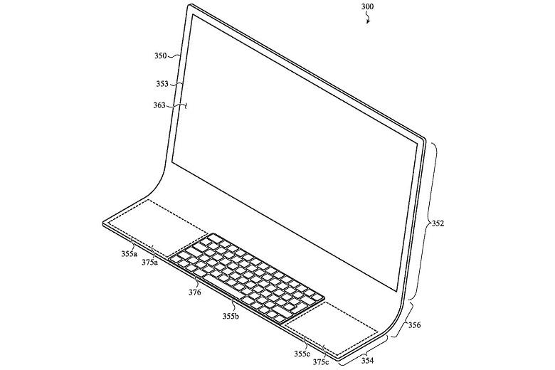 تصویر از پتنت جدید اپل از طراحی مک با شیشه خمیده یکپارچه