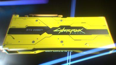 تصویر از انویدیا نسخه Cyberpunk 2077 کارت گرافیک RTX 2080 Ti معرفی کرد