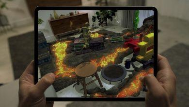 تصویر از اسکنر لیدار آیپد پرو می تواند یک اتاق نشیمن را به بازی Hot Lava تبدیل کند.