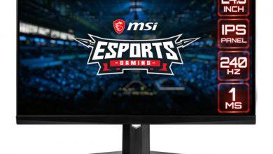 تصویر از رونمایی MSI از سه مانتیور جدید با کیفیت 1080p و نرخ رفرش ریت بالا