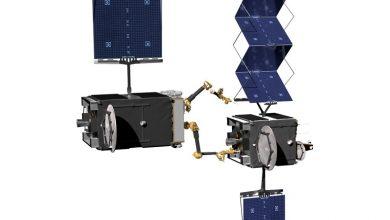 تصویر از همکاری دارپا و نورثروپ گرومن برای تولید ربات های تعمیر ماهواره