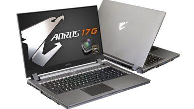 تصویر از لپتاپ گیگابایت Aero 17 و Aero 15 با پردازنده نسل دهم اینتل معرفی شد
