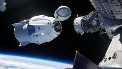 تصویر از کپسول کرو دراگون SpaceX به ایستگاه فضایی بین المللی متصل شد