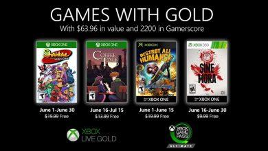 تصویر از بازی های رایگان ماه ژوئن 2020 سرویس Xbox Live Gold مشخص شد