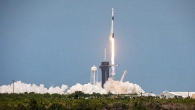 تصویر از پرتاب موفقیت آمیز کپسول کرو دراگون SpaceX به همراه دو فضانورد ناسا