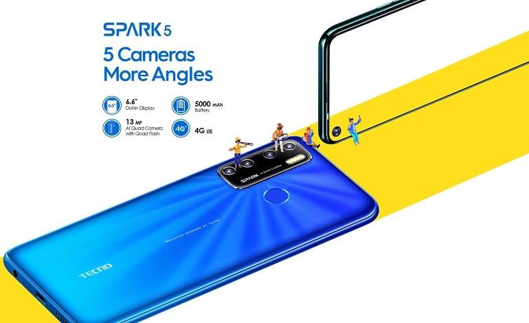 tecno spark 5 official - گوشی اقتصادی Tecno Spark 5 معرفی شد