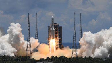 تصویر از چین با موفقیت مریخ نورد Tianwen-1 را به فضا پرتاپ کرد