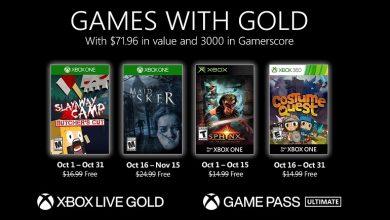 تصویر از بازی های رایگان ماه اکتبر 2020 سرویس Xbox Live Gold اعلام شد