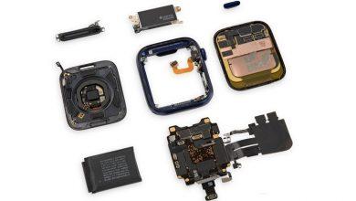تصویر از کالبدشکافی اپل واچ سری 6، از تعویض آسان نمایشگر و باتری حکایت دارد