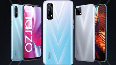 تصویر از ریلمی از گوشی های Narzo 20A, Narzo 20 و Narzo 20 Pro معرفی شد