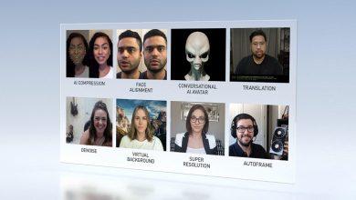 تصویر از انویدیا از پلتفرم ویدیو کنفرانس Nvidia Maxine رونمایی کرد