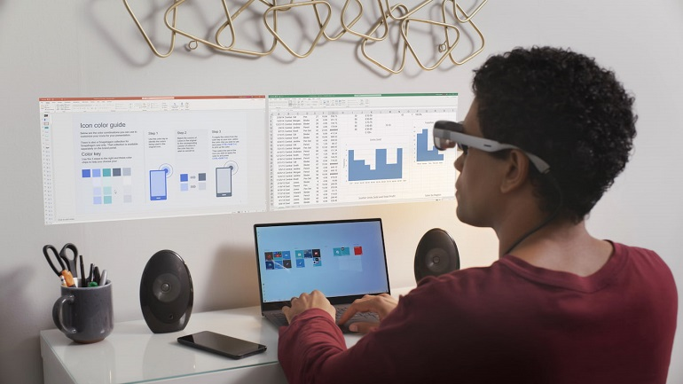 Lifestyle Virtual Monitors XR1 AR Reference Design - کوالکام از پلتفرم مرجع XR1 AR Smart Viewer رونمایی کرد