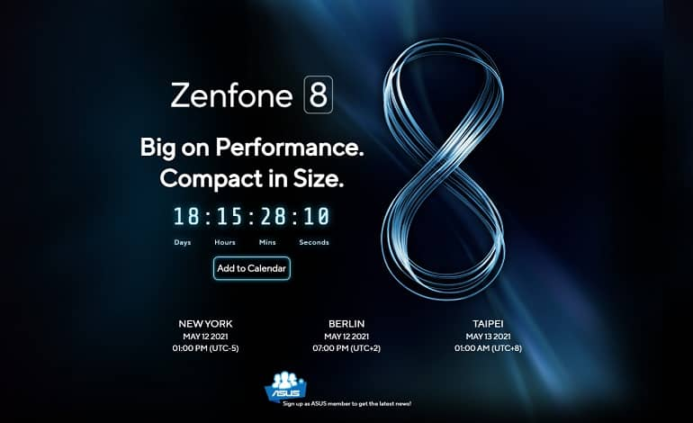 ASUS ZenFone 8 launch date - تاریخ برگزاری رویداد معرفی ایسوس ZenFone 8 اعلام شد