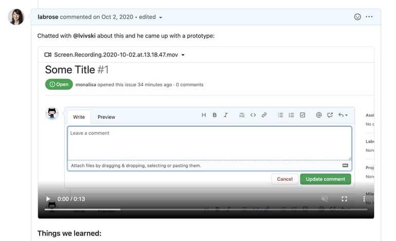 1620939101 github video - گیت هاب حالا از آپلود ویدیو از ویندوز 10، اندروید و iOS پشتیبانی می کند
