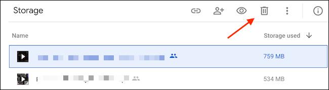 Click Bin Icon - نحوه حذف داده ها و آزاد سازی فضا در گوگل درایو