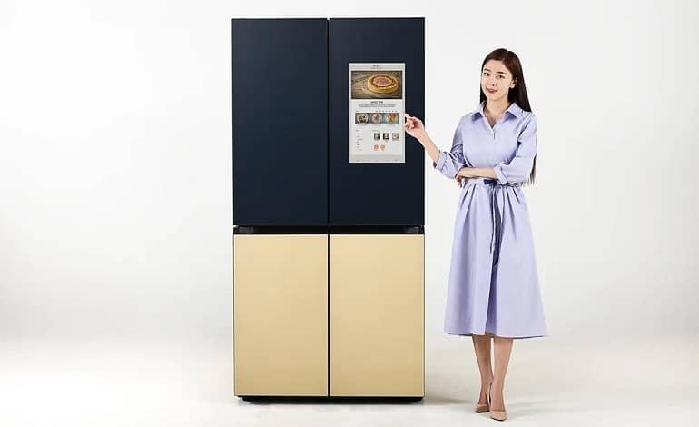 Samsung Bespoke Refrigerator Family Hub 4 - سامسونگ از یخچال Bespoke جدید با قابلیت Family Hub رونمایی کرد