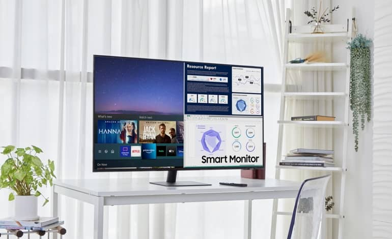 Smart Monitor PR main1.0 - سامسونگ از نسخه کوچکتر و بزرگتر مانتیور Smart Monitor رونمایی کرد