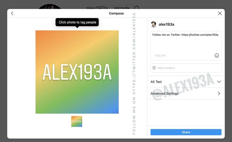 instagram desktop posts - قابلیت ارسال پست از طریق نسخه دسکتاپ اینستاگرام