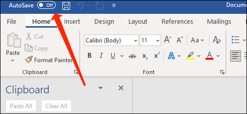 word auto save toggle off - نحوه ذخیره خودکار فایل مایکروسافت ورد در وان درایو