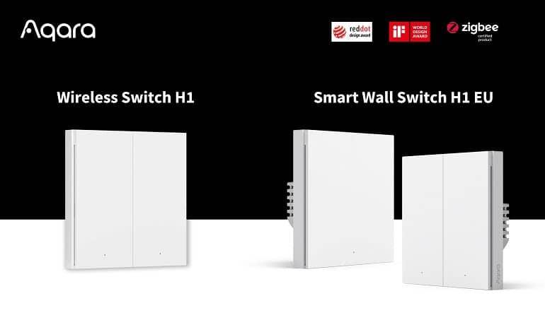 Aqara Smart Wall Switch H1 EU Wireless Switch H1 - رونمایی Aqara از اولین سوئیچ دیواری هوشمند برای بازار اروپا