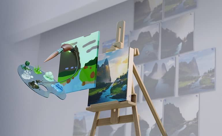 IEYaE8x3PZ3yOun6 - معرفی نرم افزار Canvas انویدیا؛ تبدیل نقاشی ساده به تصاویر طبیعی