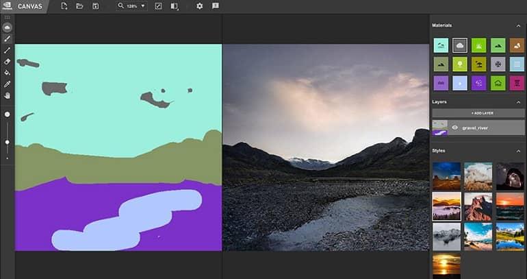 KwOapvseQsnRi50P - معرفی نرم افزار Canvas انویدیا؛ تبدیل نقاشی ساده به تصاویر طبیعی