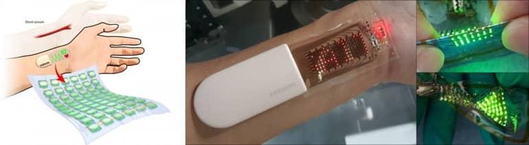 Samsung showcases a stretchable OLED skin patch - سامسونگ یک وصله پوستی OLED کشسان را به نمایش می گذارد