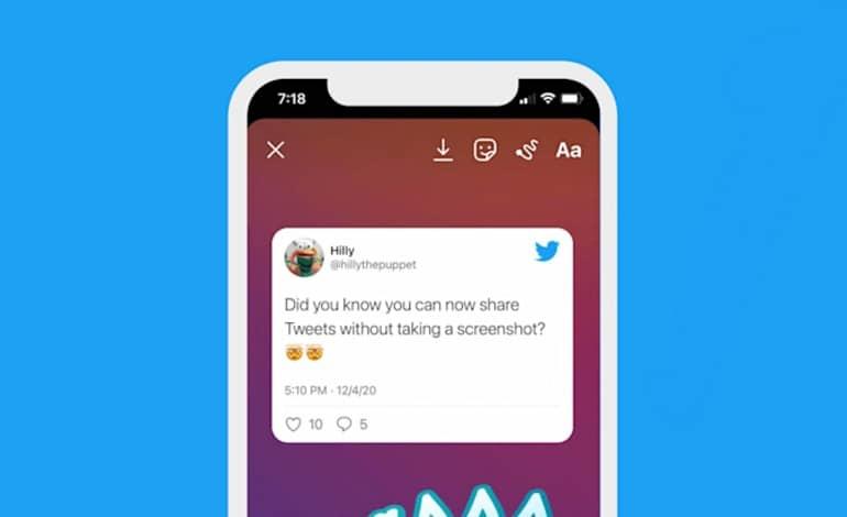a554fec0 d399 11eb b7d4 bf39f91309ec - ویژگی ارسال توییت ها به استوری اینستاگرام در نسخه iOS توییتر