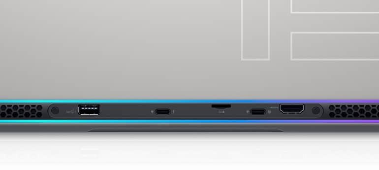 alienwarex15ports - معرفی لپ تاپ های گیمینگ سری Alienware مدل X15 و X17