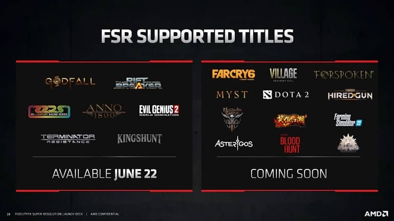 amd fsr - انتشار فناوری AMD FidelityFX Super Resolution برای افزایش نرخ فریم