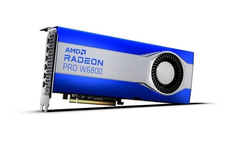 amd radeon pro w6800 graphics card front lede - رونمایی AMD از کارت گرافیک های سری Radeon PRO W6000