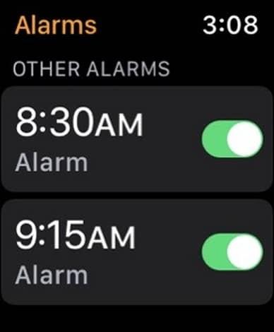 how to set an alarm on apple watch 5 - نحوه تنظیم زنگ هشدار در اپل واچ