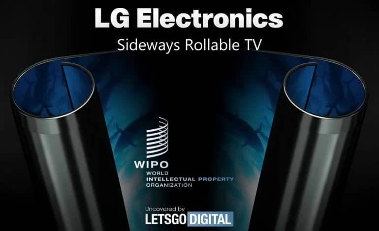 lg rollable oled tv 770x508 1 - ثبت پتنت جدید ال جی از یک تلویزیون OLED با نمایشگر دوطرفه رول شدنی