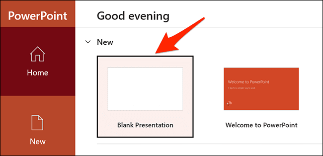 new presentation - نحوه تبدیل اسناد با فرمت DOCX به یک فایل PPTX