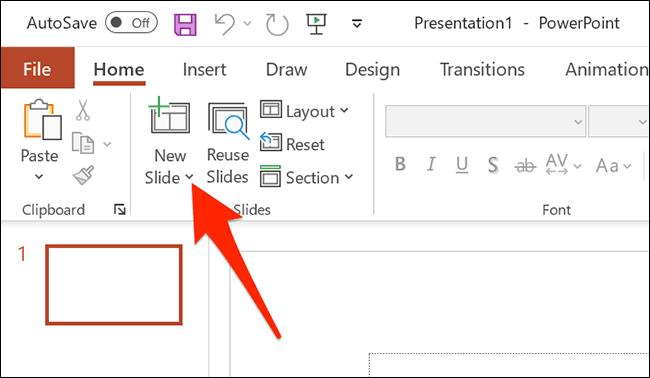 new slide powerpoint - نحوه تبدیل اسناد با فرمت DOCX به یک فایل PPTX