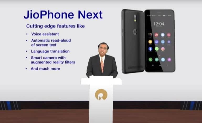 reliance jiophone next google - گوشی فوق العاده ارزان قیمت JioPhone Next معرفی شد