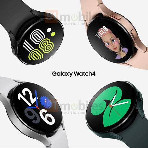 samsung galaxy watch4 renders - انتشار رندرهای رسمی از سامسونگ گلکسی واچ 4
