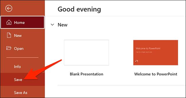save powerpoint presentation - نحوه تبدیل اسناد با فرمت DOCX به یک فایل PPTX