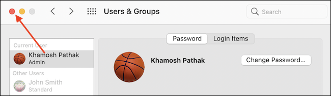 Exit System Preferences App - چگونه رمز ورود خود را در Mac تغییر دهیم