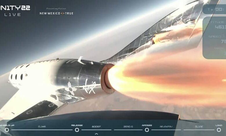Screen Shot 2021 07 11 at 11.25.45 AM 780x470 - ویرجین گلکتیک با موفقیت ریچارد برانسون را به مرز فضا فرستاد