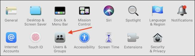Select Users Groups - چگونه رمز ورود خود را در Mac تغییر دهیم