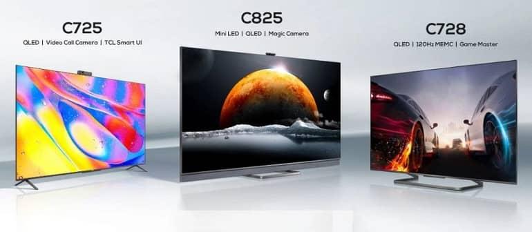 TCL C725 C728 and C825 - عرضه تلویزیون های جدید TCL با پنل های MiniLED و OLED